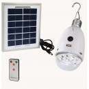 LED Solar Lamp, Panel and Remote