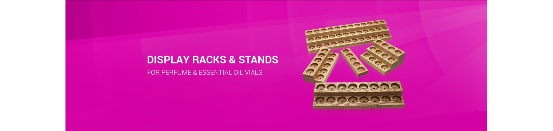Display Racks & Stands for Perfume & Essential Oil Vials