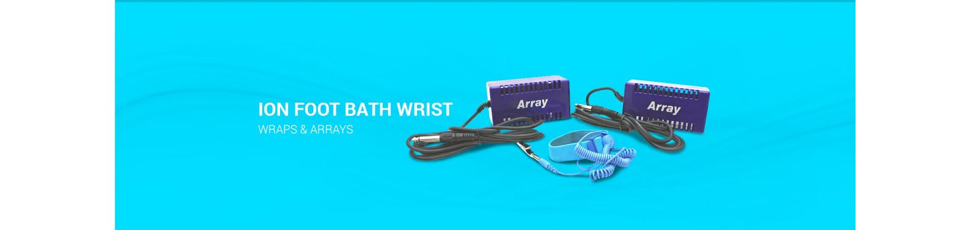 Ion Foot Bath Wrist Wraps & Arrays