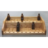 2 Tier 60 1 oz Retail Bottle Display and Sample Rack 205B-1oz