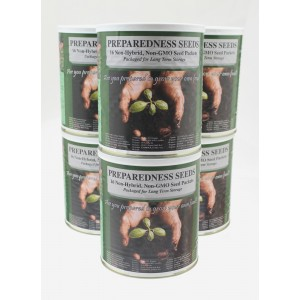 6 Garden Seed Cans