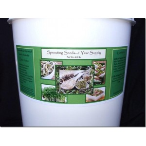 Sprouting Seeds 1 Year Supply 6 gallon bucket