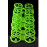 Sock Laundry Clips  4 Sheets (4 Doubles & 16 Singles) Lime Green
