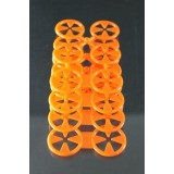 Sock Locking Clips for Laundry 4 Sheets (4 Doubles & 16 Singles) Orange